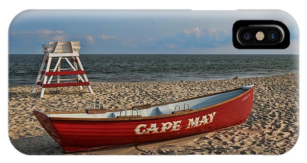 Cape May N J Rescue Boat IPhone Case