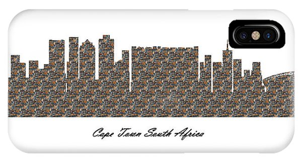 Cape Town South Africa 3d Stone Wall Skyline IPhone Case