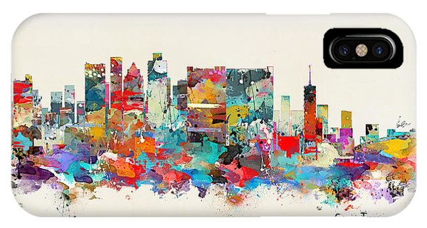 Town iPhone Case - Cape Town South Africa Skyline by Bri Buckley