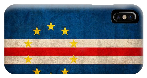 Cape Verde Flag Vintage Distressed Finish IPhone Case