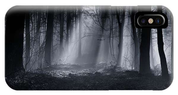 Fog Mist iPhone Case - Capela Forest by Julien Oncete