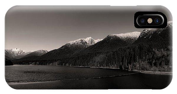 Capilano Dam In Black And White IPhone Case