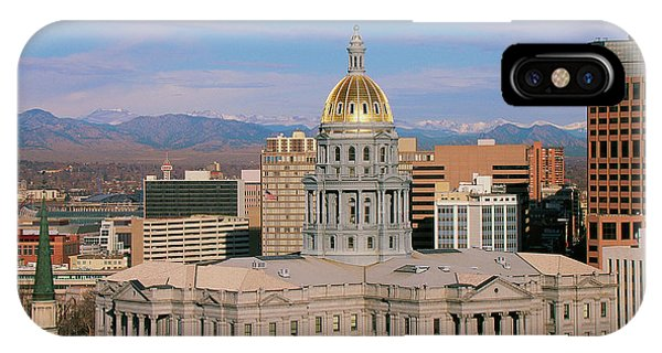 Capitol Building iPhone Case - Capitol Building In Denver, Co by Panoramic Images