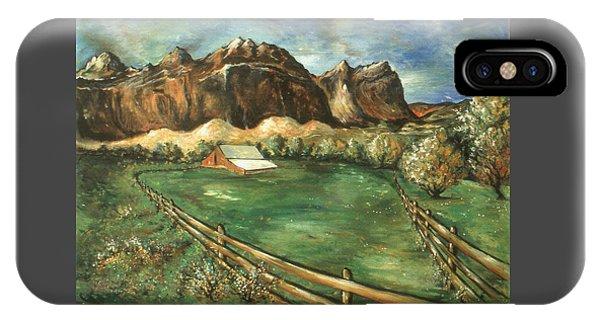 Capitol Reef Utah - Landscape Art Painting IPhone Case