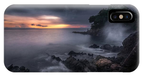 Long Exposure iPhone Case - Caprusan Temple Sunset by Ade Rizal