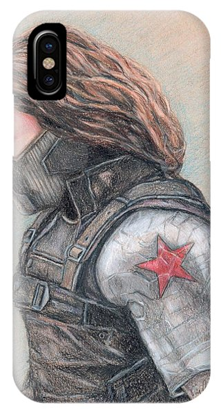 iPhone Case - Captain America Winter Soldier by Christine Jepsen