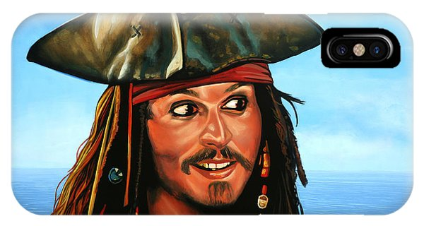 At Work iPhone Case - Captain Jack Sparrow Painting by Paul Meijering
