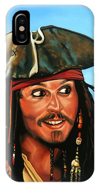 Sparrow iPhone Case - Captain Jack Sparrow Painting by Paul Meijering