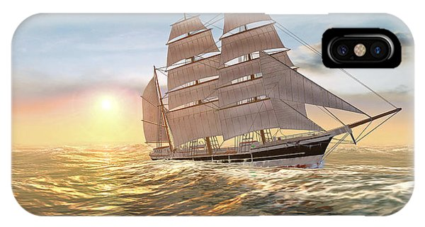 Captain Larry Paine Clippership IPhone Case