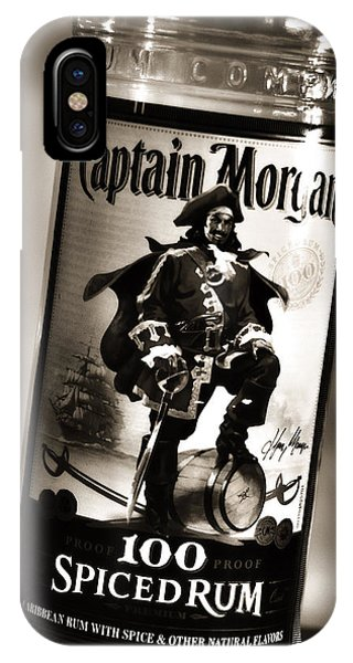 Captain Morgan Black And White IPhone Case