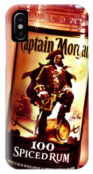 Captain Morgan Red Toned IPhone Case