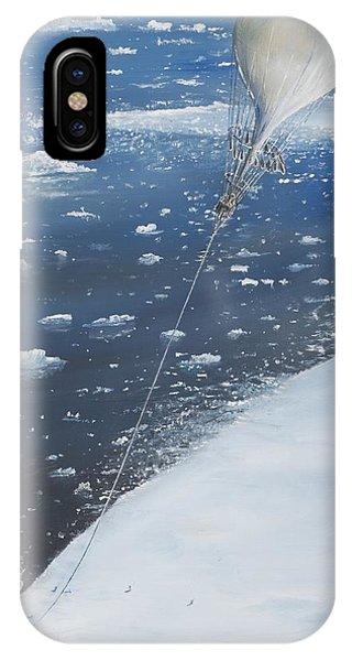 Explorer iPhone Case - Captain Scott Antarcticas First Aeronaut by Vincent Alexander Booth