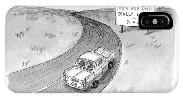1 iPhone Case - Captionless 'mom And Dad Really Lose It  -  1/4 by Roz Chast