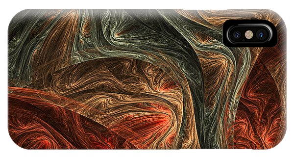 Fractal Geometry iPhone X Case - Captivate by Lourry Legarde