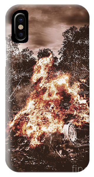 Flammable iPhone Case - Car Bomb Inferno by Jorgo Photography - Wall Art Gallery