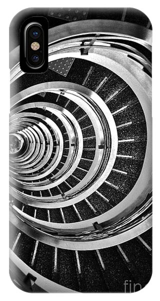 Time Tunnel Spiral Staircase In Sao Paulo Brazil IPhone Case
