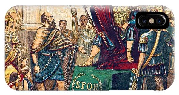 British Empire iPhone Case - Caractacus Before Emperor Claudius, 1st by British Library