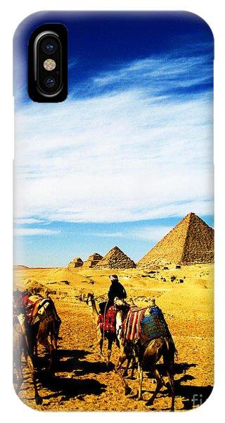 Caravan Of Camels IPhone Case