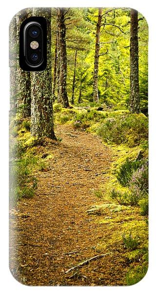 Carbisdale Path Scotland IPhone Case