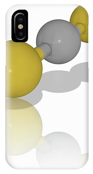 Organic Matter iPhone Case - Carbon Disulfide Organic Compound Molecule by Laguna Design/science Photo Library
