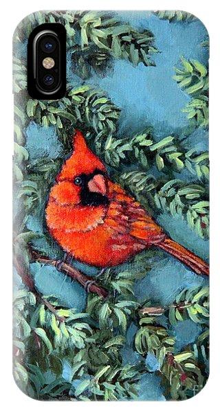 Cardinal In Spruce IPhone Case