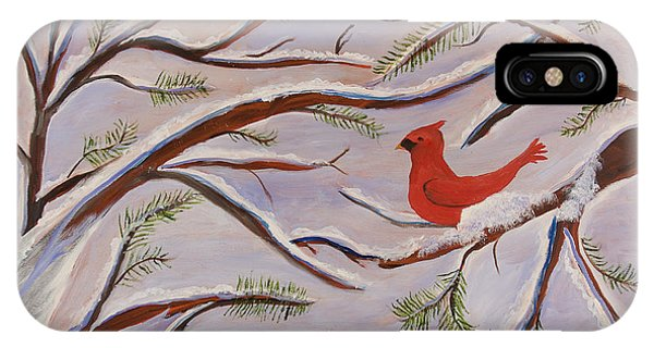 Cardinal Phone Case by Margaret Pappas