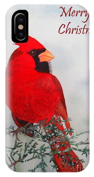 Cardinal Merry Christmas IPhone Case