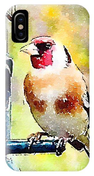 Carduelis Carduelis 'waterfinch' IPhone Case