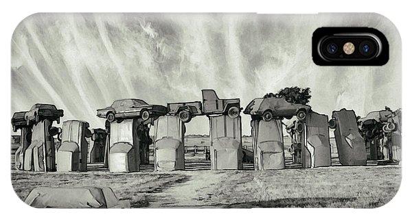 Carhenge Revival IPhone Case