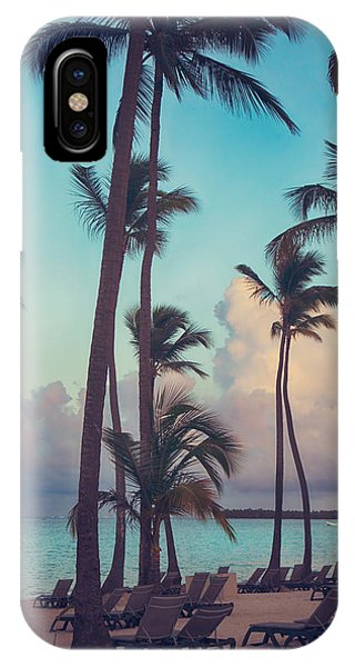 Palm Tree iPhone X Case - Caribbean Dreams by Laurie Search
