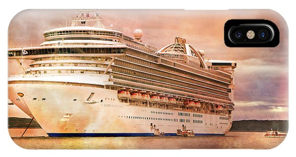 Cruise Ship iPhone Case - Caribbean Princess In A Different Light by Betsy Knapp