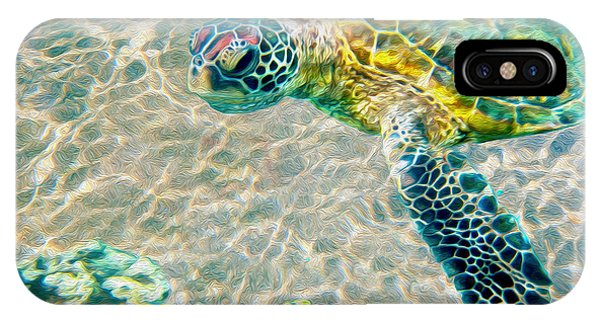 Bahamas iPhone Case - Beautiful Sea Turtle by Jon Neidert