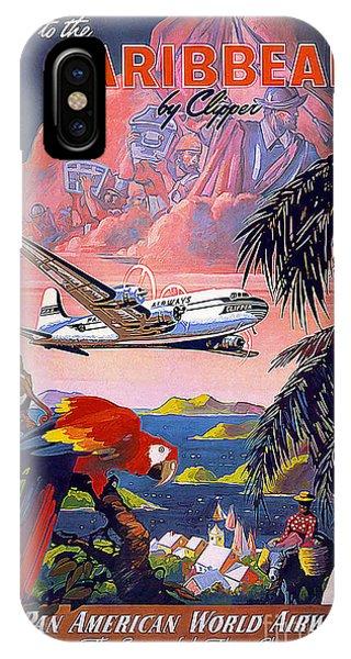 Caribbean Vintage Travel Poster IPhone Case