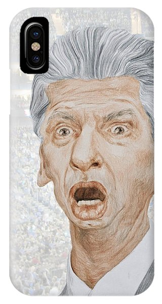 Caricature Of Wwe Owner Vince Mcmahon IPhone Case