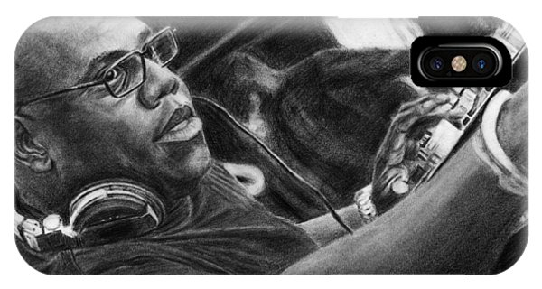 Carl Cox Pencil Drawing IPhone Case