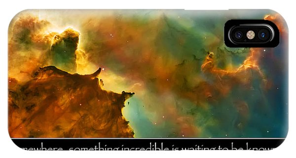 Carl Sagan Quote And Carina Nebula 3 IPhone Case