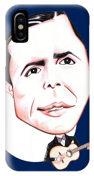 Carlos Gardel Illustration Phone Case by Diego Abelenda