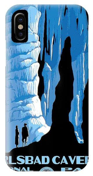 Carlsbad Caverns National Park Vintage Poster IPhone Case