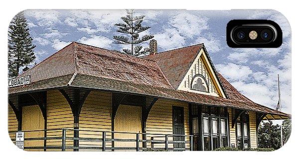 Carlsbad Railroad Depot IPhone Case
