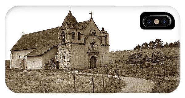 Carmel Mission Monterey Co. California Circa 1890 IPhone Case