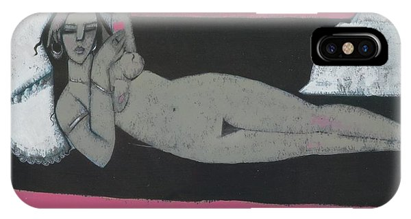 Chaise iPhone Case - Carmena Resting by Endre Roder