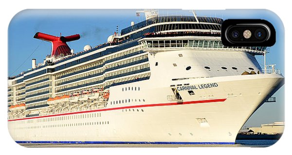 Cruise Ship iPhone Case - Carnival Legend Leaving Tampa Florida by David Lee Thompson