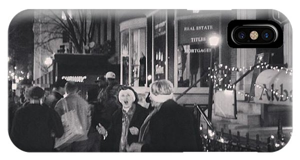Carolers On North Charles Street December 2013 IPhone Case