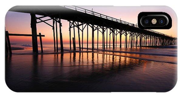North Carolina Beach Pier - Sunrise IPhone Case
