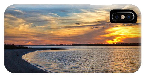 Carolina Beach River Sunset II IPhone Case