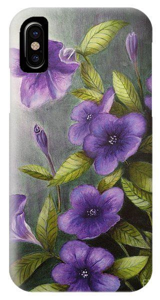 Carolina Wild Petunia Ruellia Caroliniensis IPhone Case