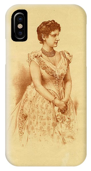 Caroline Lady Ridgeway  Wife Of Sir Phone Case by Mary Evans Picture Library