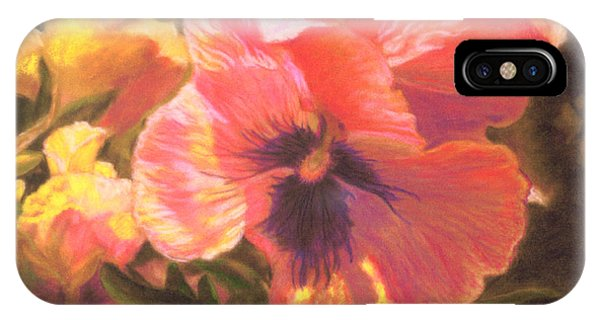 Caroline's Pansies IPhone Case