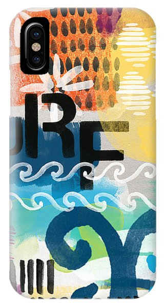 California iPhone Case - Carousel #7 Surf - Contemporary Abstract Art by Linda Woods