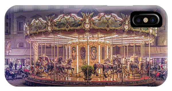 Funfair iPhone Case - Carousel by Christian Marcel